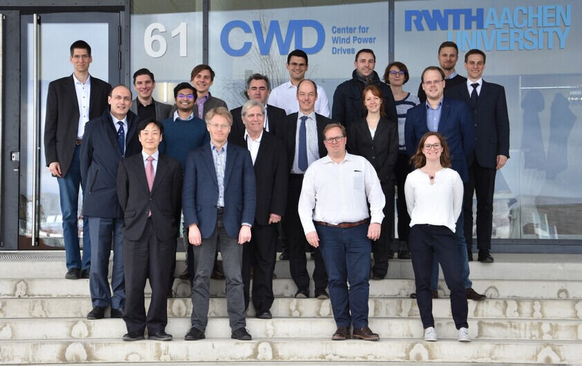 CWD Science Day 2019 participants standing on stairs